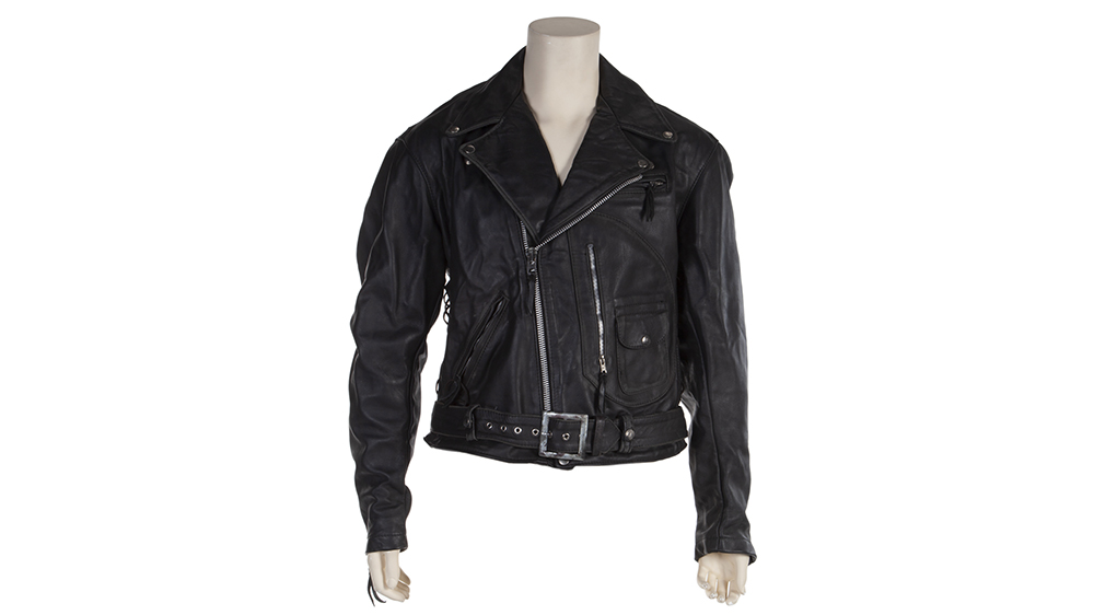 Black leather motorcycle jacket from The Terminator