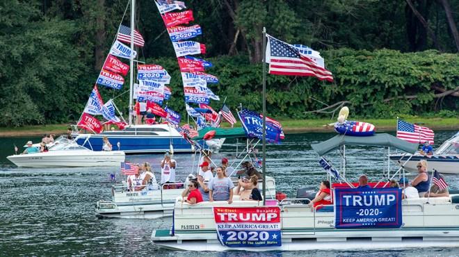 A Trump boat parade in Pennsylvania in September