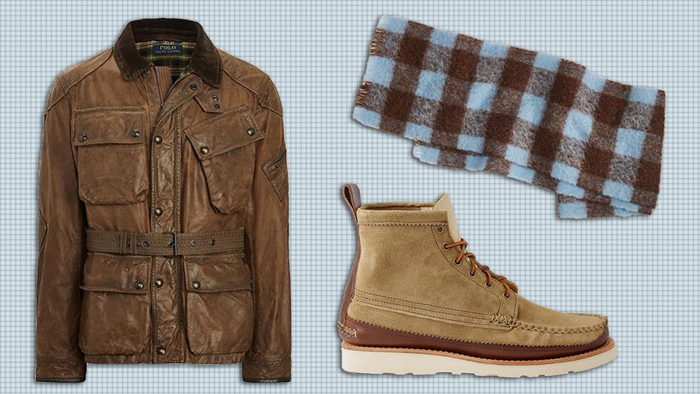Polo Ralph Lauren jacket, Acne Studios scarf, Yuketen boots