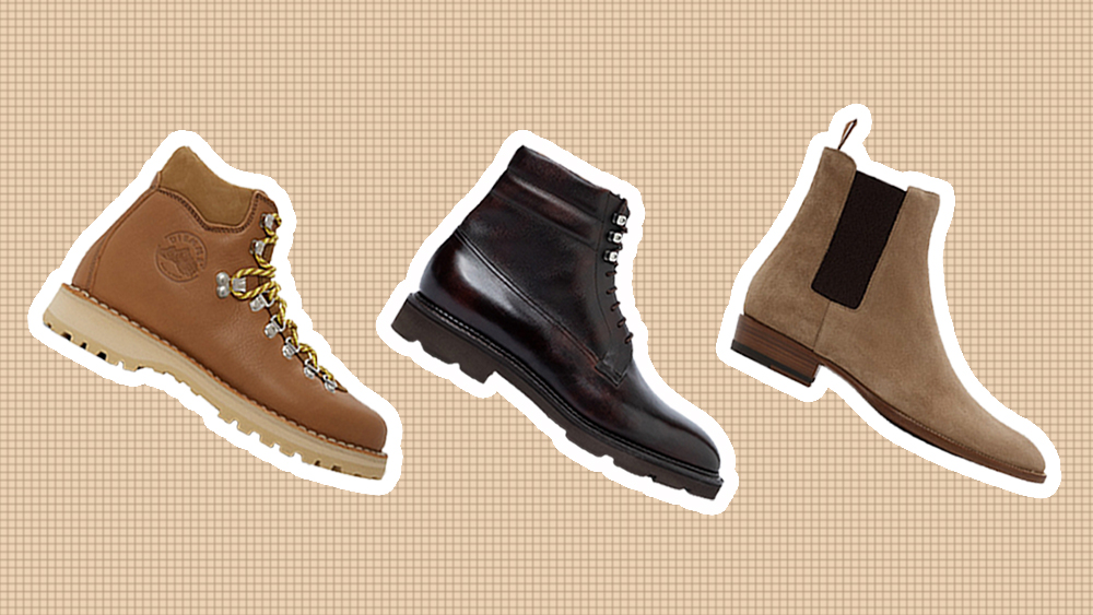 Boots from Diemme, John Lobb & Saint Laurent.