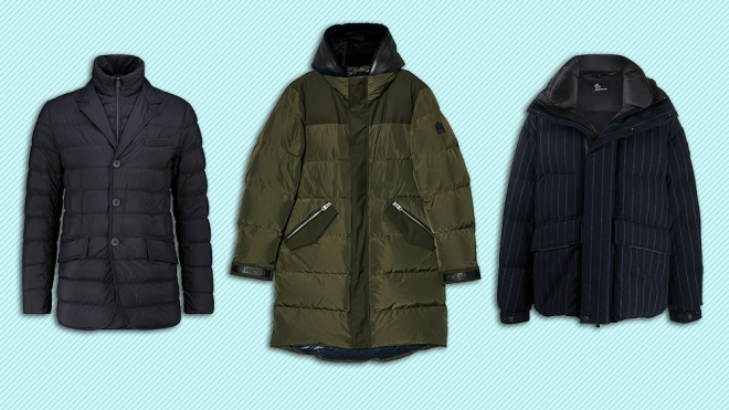 Coats from Herno, Mackage and Moncler.
