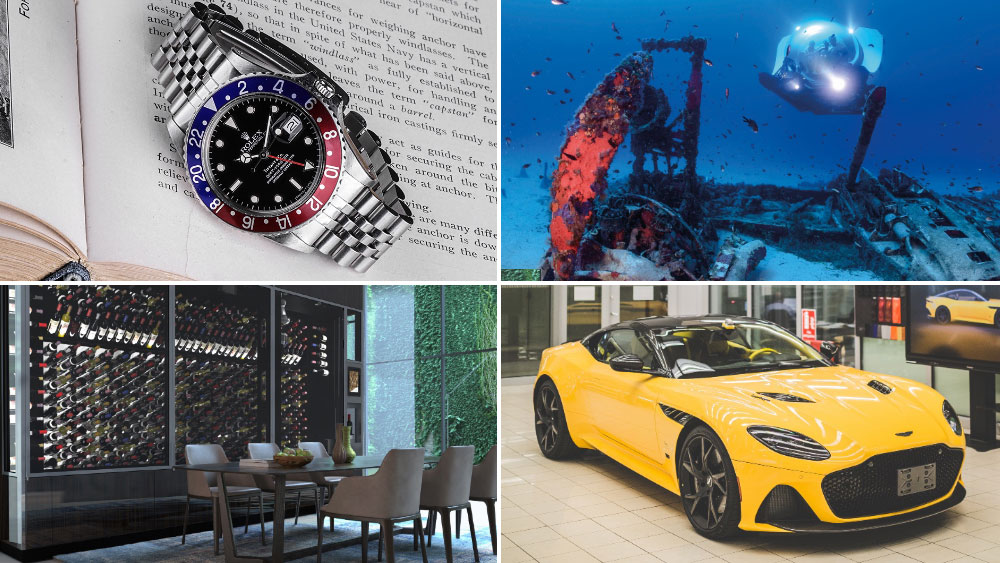 GMT Master Rolex, Submarine, Customized Supercar, WineWall