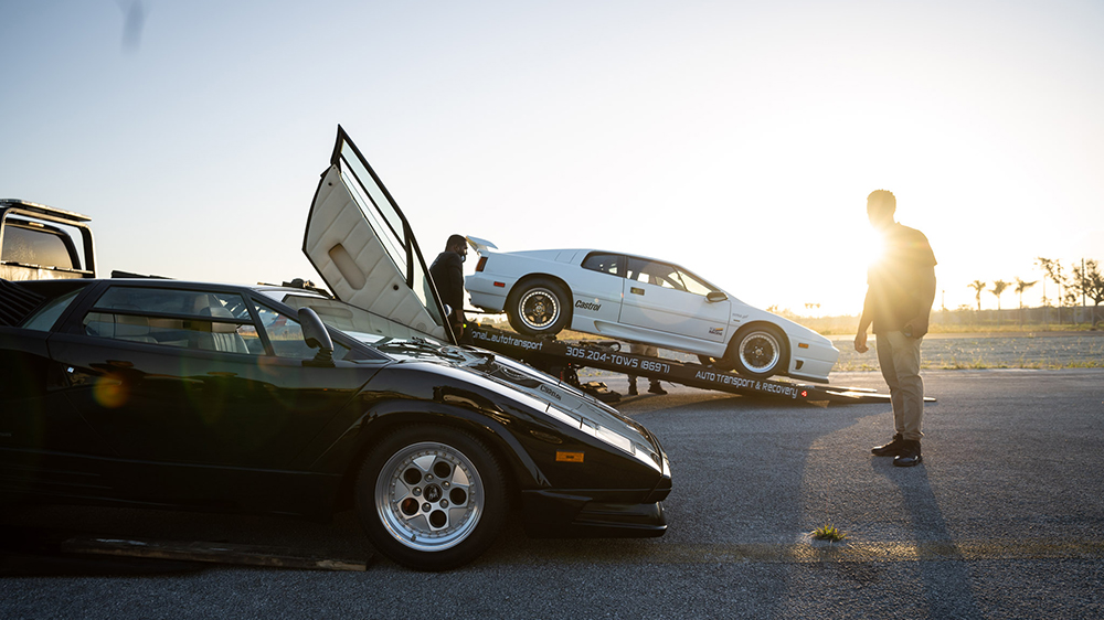 """The 25th Anniversary Lamborghini Countach and Lotus Esprit X180R from Curated's """"Time Capsule Collection"""""""