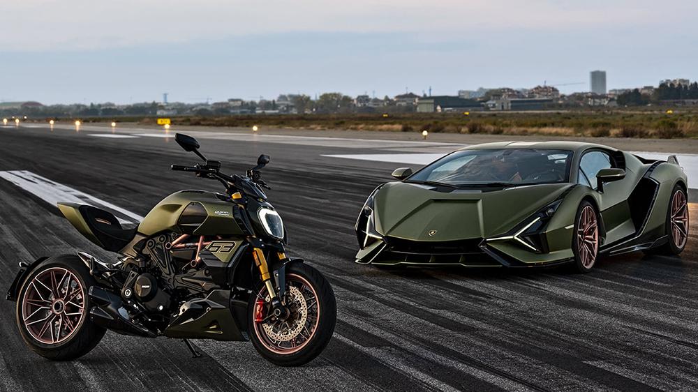 Ducati Diavel 1260 Lamborghini and the Lamborghini Siàn FKP 37