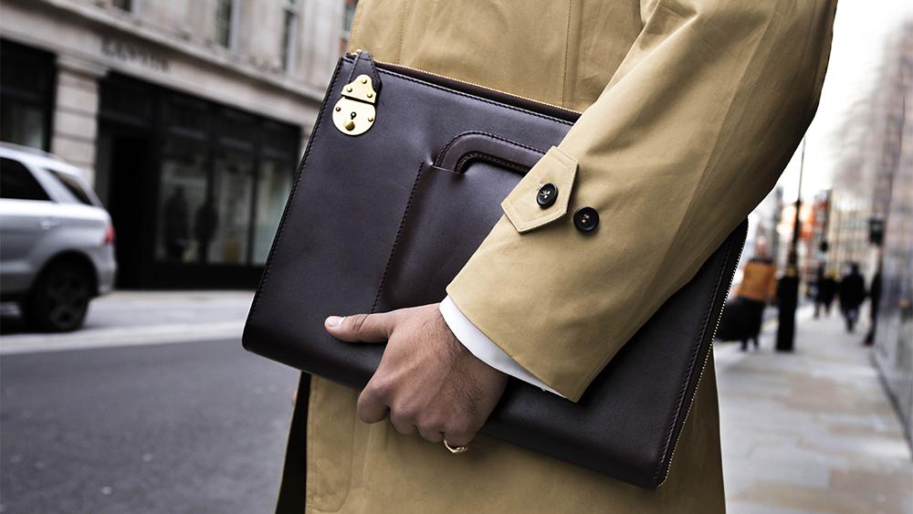 Ettinger 'Bakerloo' portfolio case ($1,240).