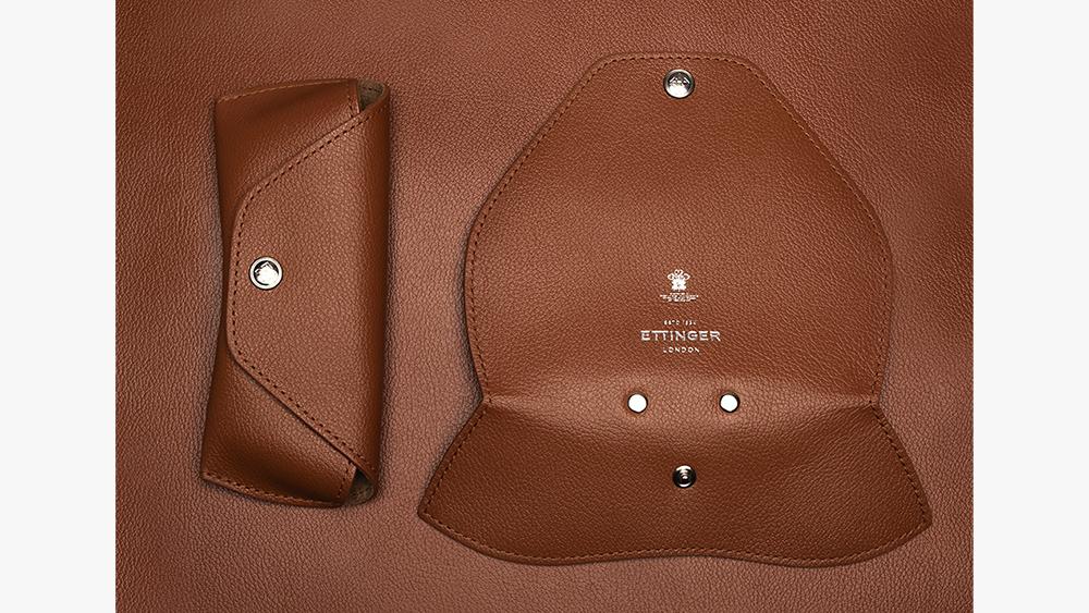 Eyewear upgrade: Ettinger 'Capra' goatskin glasses case ($135).