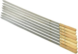 G & F Products Stainless-Steel BBQ Skewers