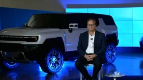 The SUV variant of the Hummer EV in a recent GM investor call