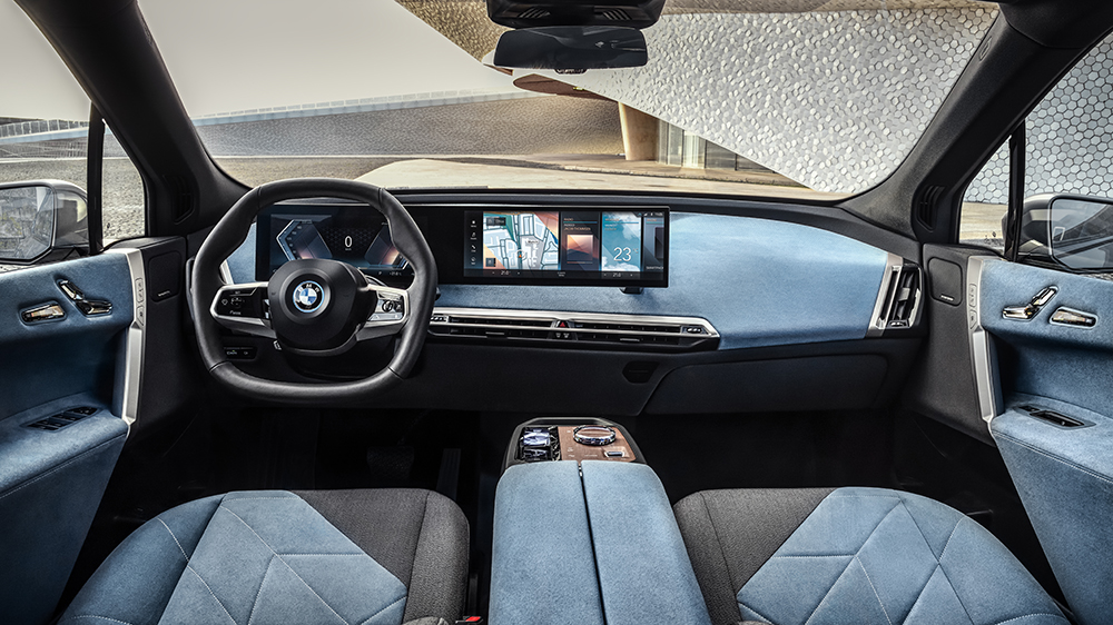 Inside the BMW iX electric crossover concept