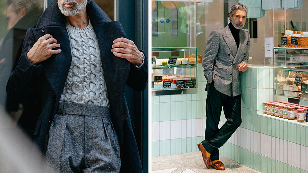 Looks from Edward Sexton's fall-winter ready-to-wear collection.