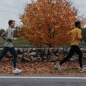 Runners in Tracksmith duds.