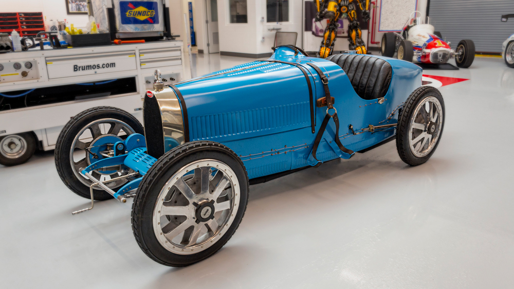 The Brumos Collection's restored 1925 Bugatti Type 35 race car.