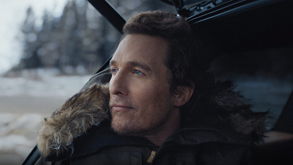 Actor Matthew McConaughey in an Advertisement for Lincoln.