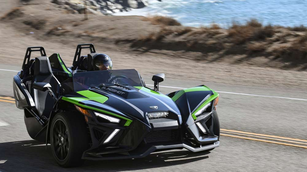 The 2021 Polaris Slingshot SL in Malibu.