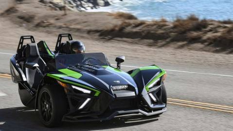 The 2021 Polaris Slingshot SL in Malibu.