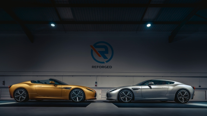 The first prototypes of the Aston Martin V12 Zagato Heritage Twins.