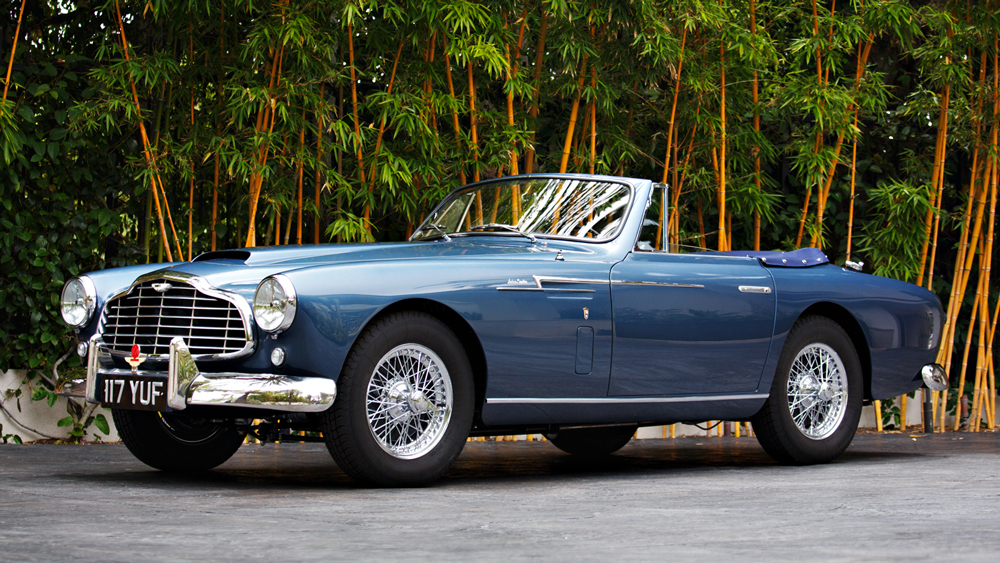 A 1954 Aston Martin DB2/4 Drophead Coupe by Bertone.