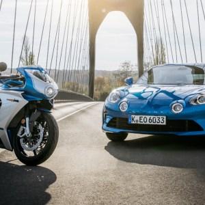 MV Agusta debuts a Superveloce based on the Alpine A110 sports car.