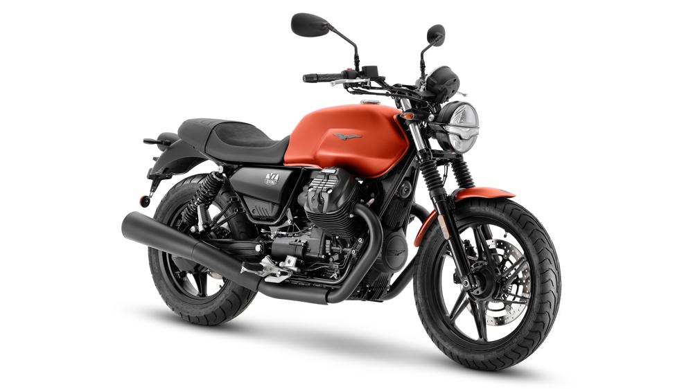 The 2021 Moto Guzzi V7 Stone motorcycle.