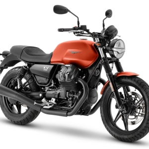 The 2021 Moto Guzzi V7 Stone motorcycle.