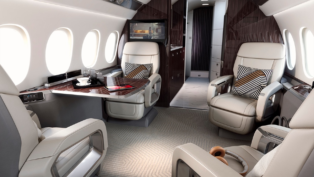 The Dassault 6X has the largest interior in its class