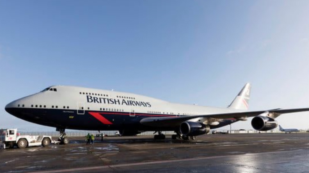 This retired British Airways 747 is becoming a movie set at Dunsford Aerodrome in the U.K.
