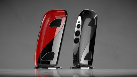 Tidal Audio's Royale speaker system, a collaboration with Bugatti.