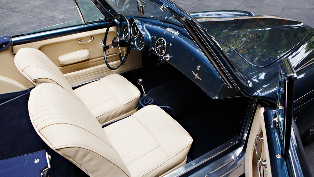 A look inside a 1954 Aston Martin DB2/4 Drophead Coupe by Bertone.