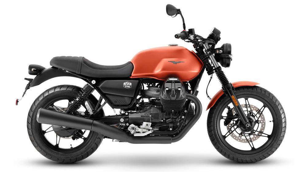 The 2021 Moto Guzzi V7 Stone motorcycle..