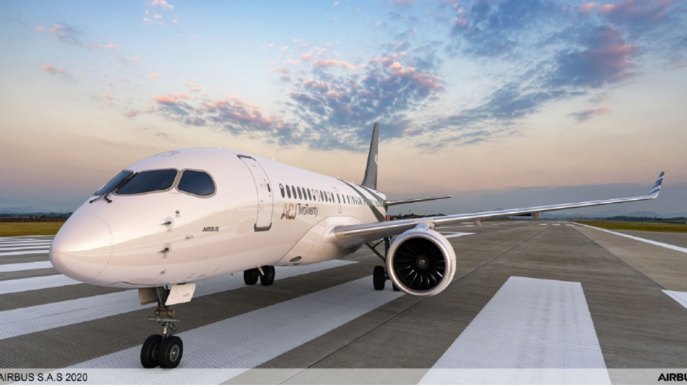 Based on the Airbus 220, ACJ 220 has the widest and longest in its class.