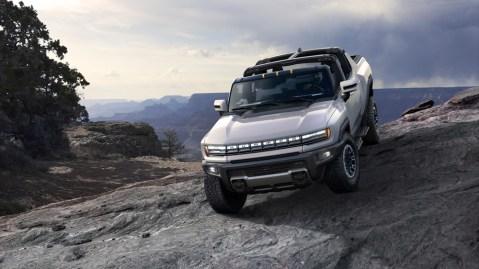 The 2022 GMC Hummer EV.