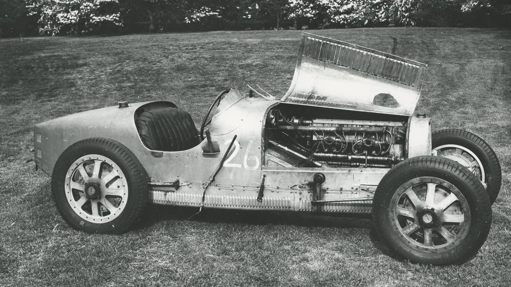 A 1925 Bugatti Type 35 race car.