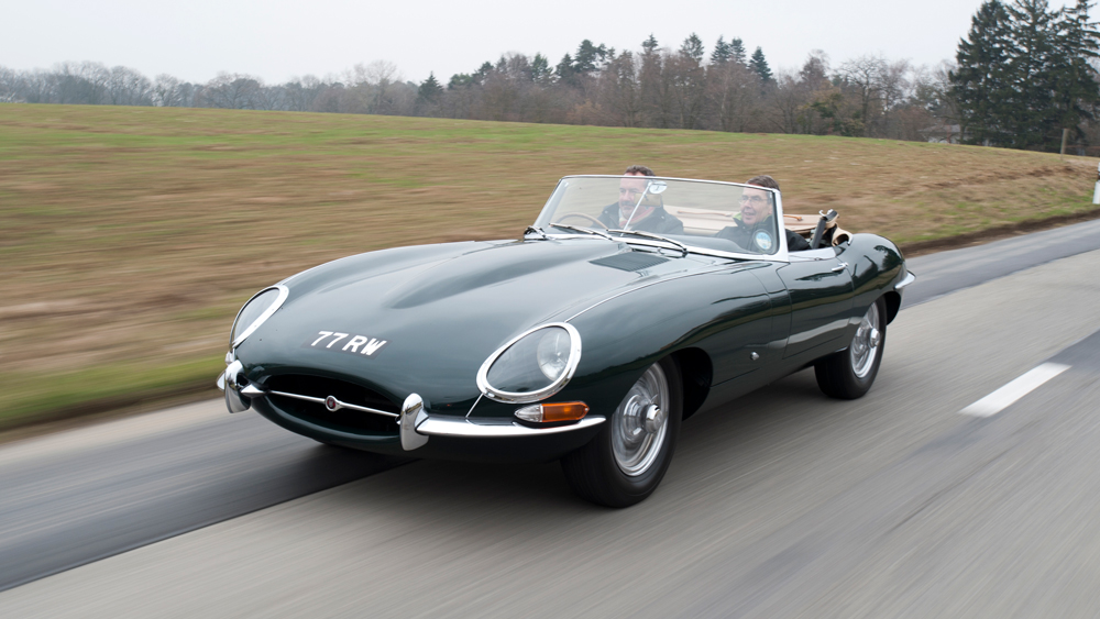 An example of the Jaguar E-type.