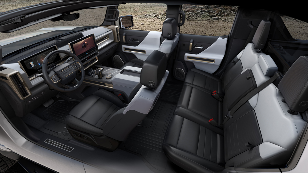 A look inside the 2022 GMC Hummer EV.