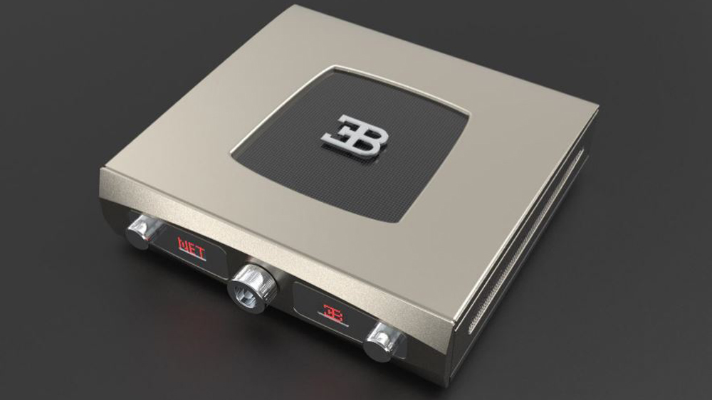 The Tidal controller for Tidal Audio's Royale speaker system, a collaboration with Bugatti.