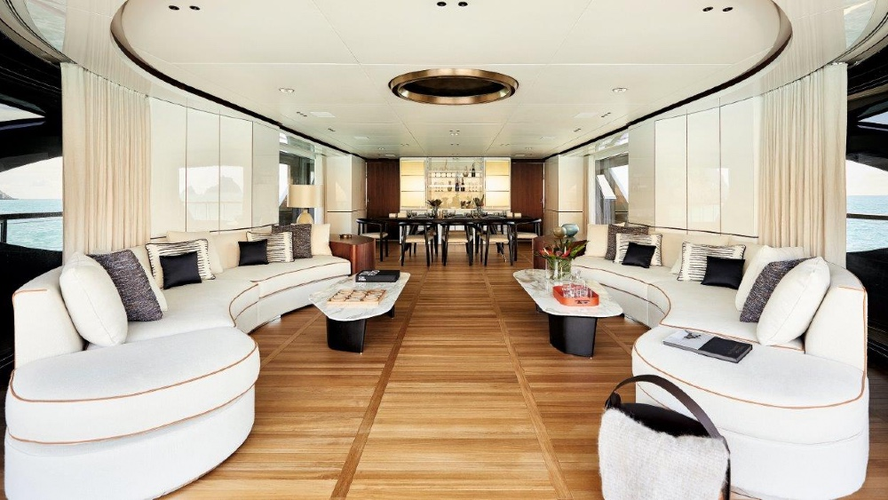 Rebeca is Benetti's new Oasis 40M superyacht with a 900-square foot open stern area.
