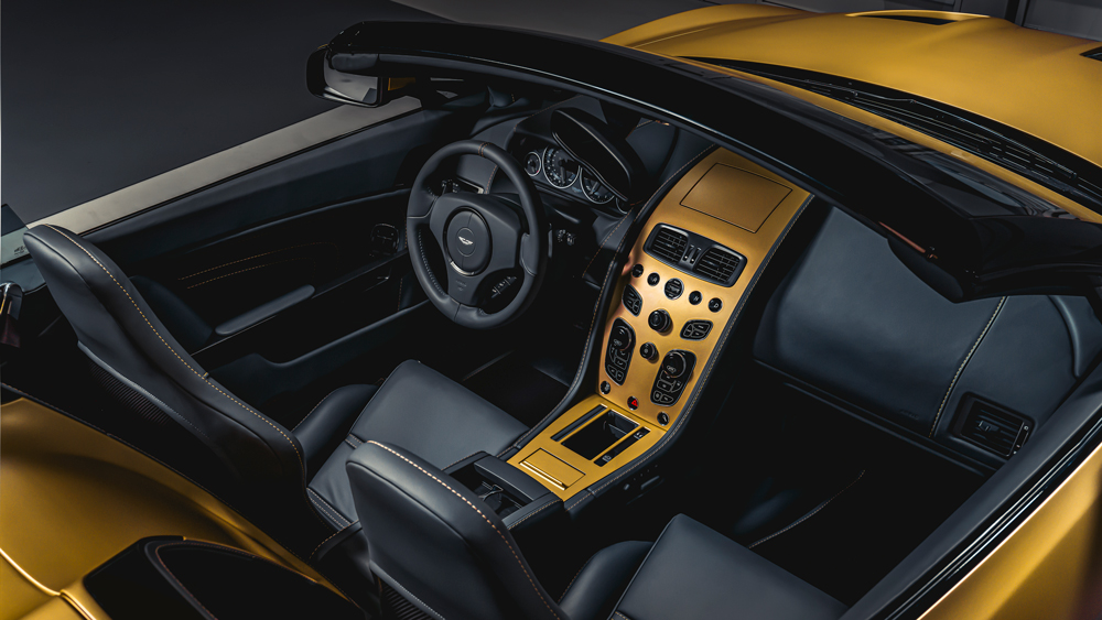 The interior of the Speedster version of the Aston Martin V12 Zagato Heritage Twins.