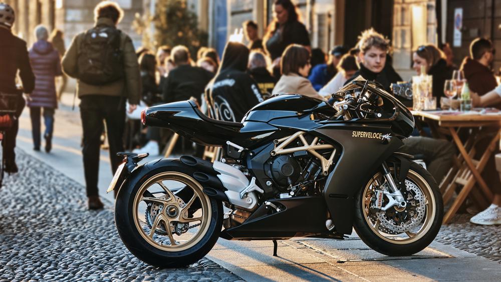 The MV Agusta Superveloce motorcycle.