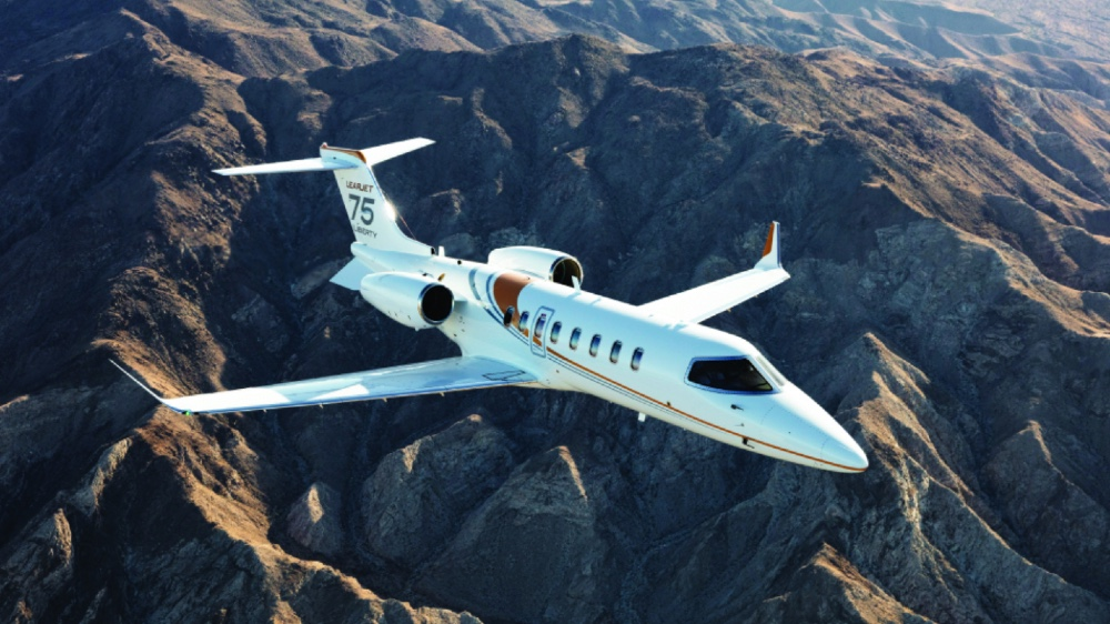 The Learjet 75 Liberty is a midsize jet priced in the light-jet category