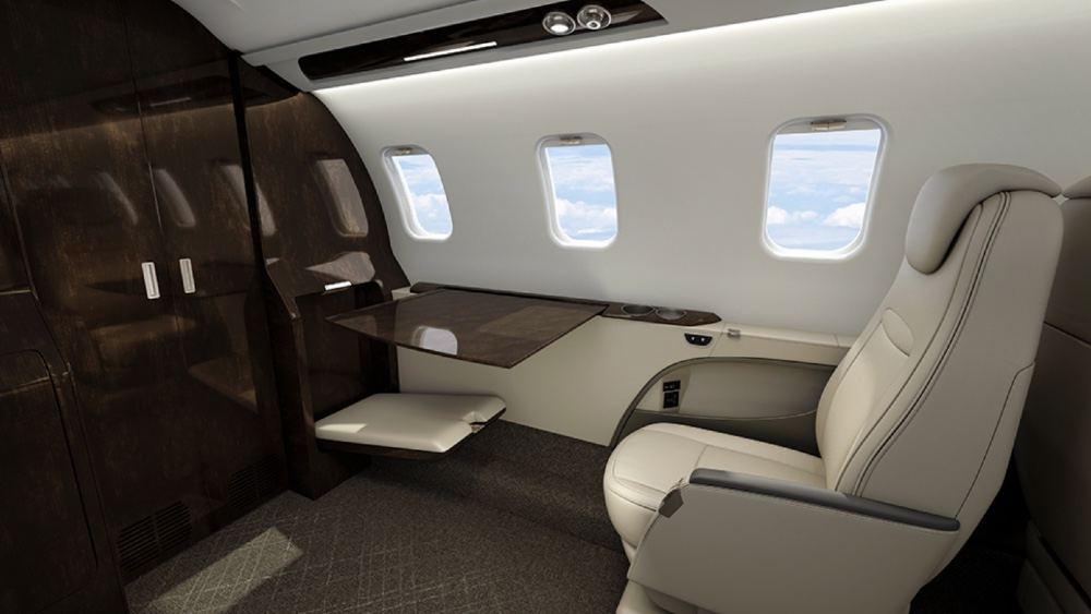 The Learjet 75 Liberty is a midsized jet designed to compete in the light-jet category.