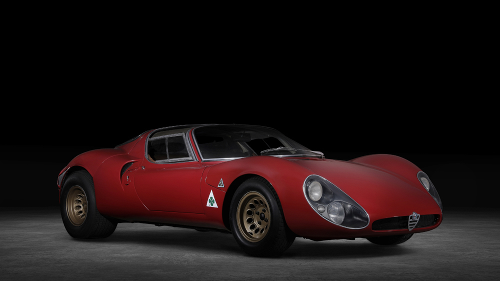 The 1967 Alfa Romeo 33 Stradale.