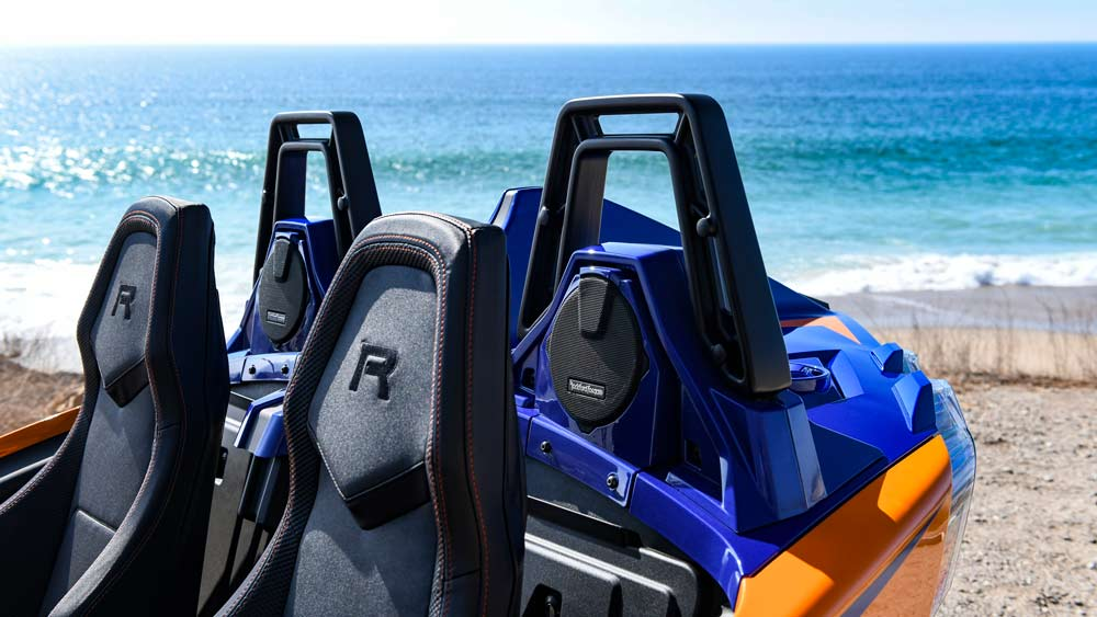 The 2021 Polaris Slingshot R in Malibu.
