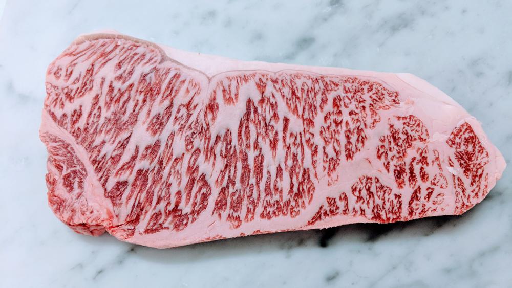 a5 kobe beef strip steak