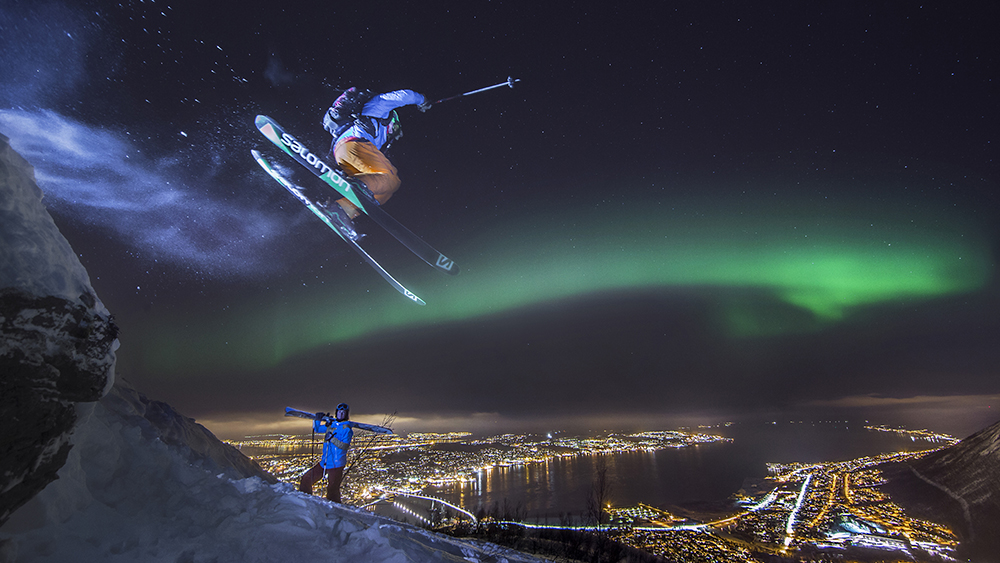Arctic skiing in Tromso