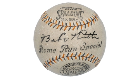 Babe Ruth Autographed Home Run Special Baseball