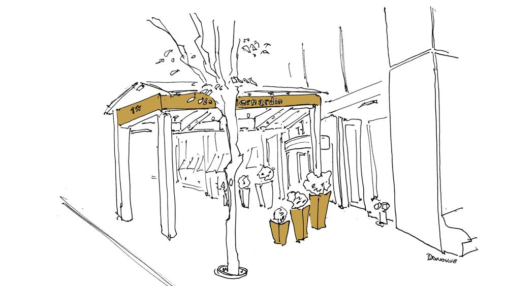 Le Bernardin sketch by john donohue