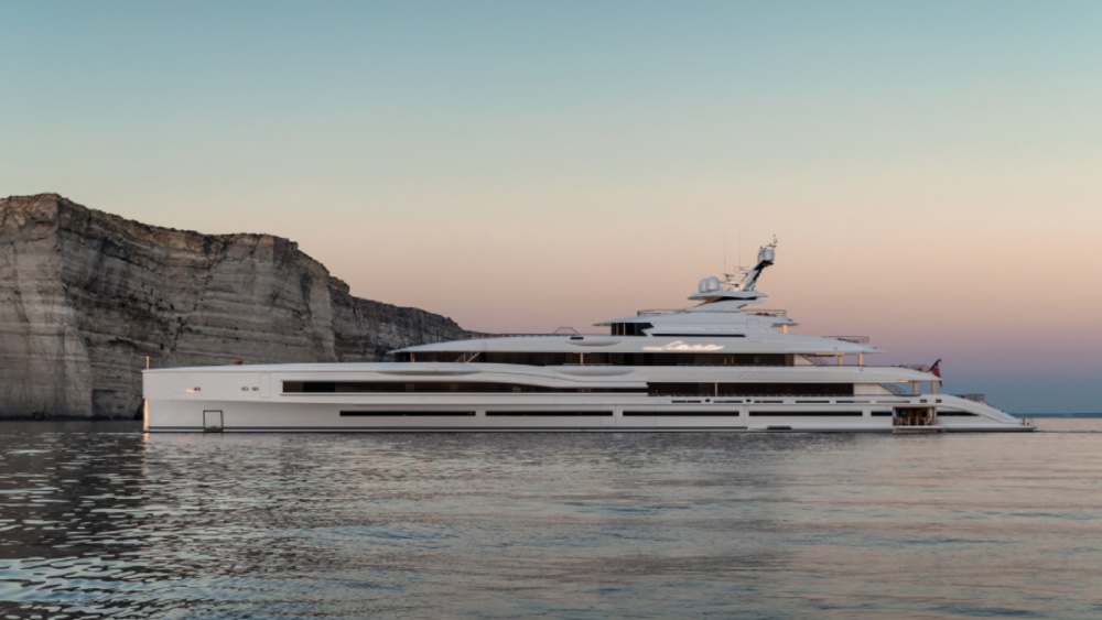 Benetti's Lana is a hybrid yacht of extreme size, with some of the best open design plans in the superyacht sector