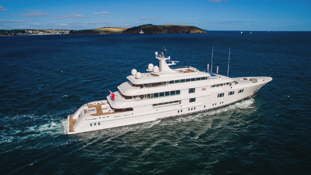 Refurbished Superyacht LadyE is traveling around the world with the owner and his young family