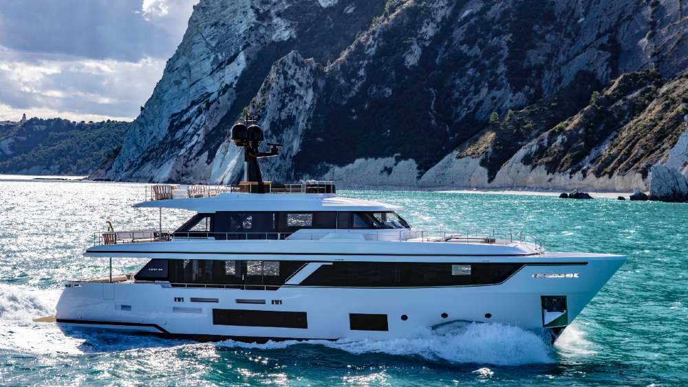 This new 93-foot Custom Line superyacht is one of the freshest designs to emerge this year