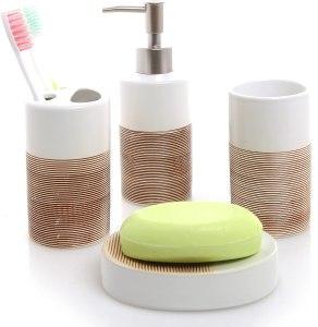 MyGift Bathroom Accessories Set